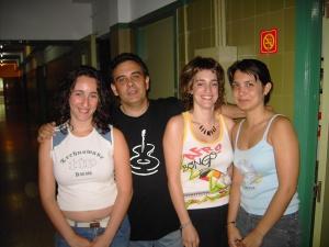 Con Piedad, Elena y Sara